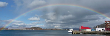 Rainbow over Oban Bay